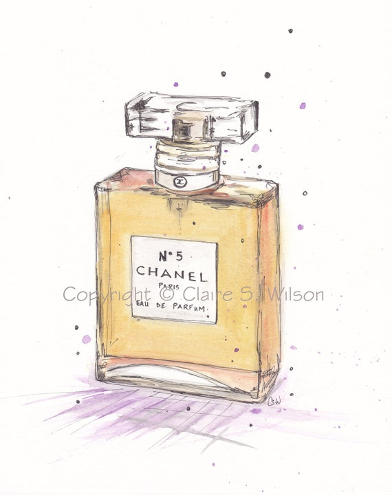 Chanel No. 5 - Art Print 8x10
