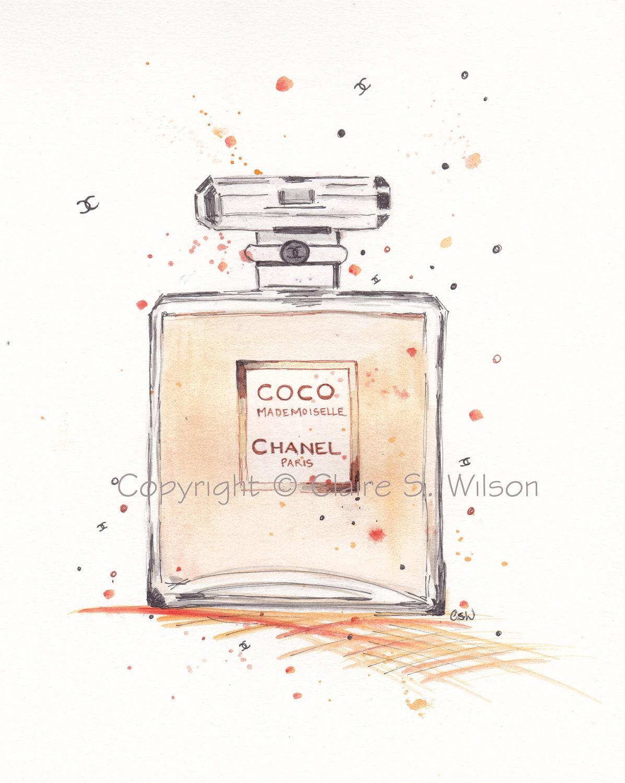 Coco Mademoiselle Chanel Art Print 5x7
