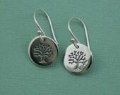 Tree Earrings - sterling silver earrings - tree earrings - tree jewelry - tree of life earrings
