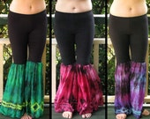 Tribal Belly Dance Silk Flare Pants