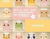 Offer Cute Animal Giftbox: Buy 10, Get 1Box & 1Stationery Set FREE - Printable PDF