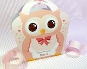 Kawaii Owl Giftbag Cute Valentine's Day Easter Love Birthday Party Treat basket Owl Bag Packaging Editable Printable PDF