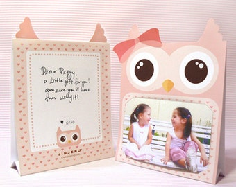Pink Owl Photoframe Printable PDF