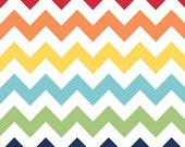 Riley Blake Medium Chevron Fabric in Rainbow -- 1 yard and 29 inches EOB