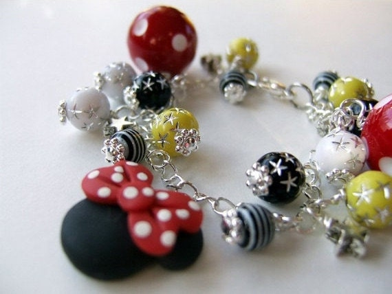 ADULT SIZE Disney Vacation Mouse Ears Charm Bracelet B062