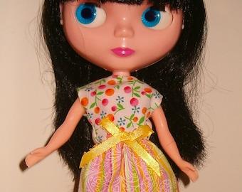 Sale Blythe Yellow floral stripe Dress