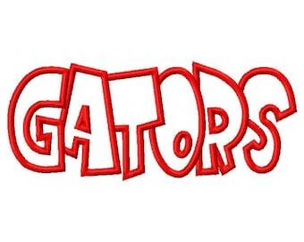Gators Embroidery Machine Applique Design 2930