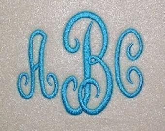 Classic Embroidery Machine Monogram Alphabet Font Set 161 - INSTANT DOWNLOAD