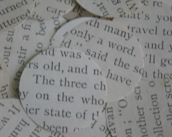 Vintage Children's Book Paper Punch Circles - Charles Dickens Charming Stories About Children