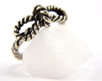 Two for One Sale....Tiny Bow Ring - Rope Ring