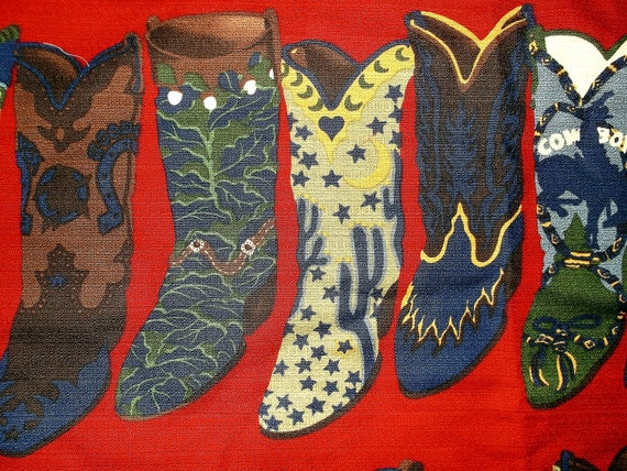 Cowboy Boots Fabric . . . Round-Up by Moda . . . over 1 1/2 yards X 54 inches