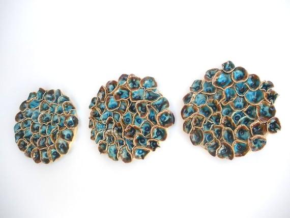 Items Similar To Ceramic Tiles Wall Decor A Set Of Round