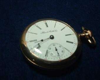 Antique Illinois 18 Size 15 Jewels Hunting Movement Pocket Watch