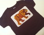 Shirt Made With Brown Bear Brown Bear What Do You See Fabric Custom Applique T-Shirt You Pick Character and Size