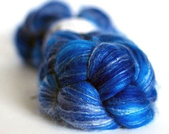 Wool Roving - Merino Bamboo and Nylon - Hand Dyed