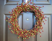 Christmas Holiday Wreath - Red and Green Berry Wreath