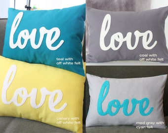Custom Love Pillow - You Choose The Color