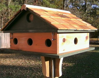 Mini Purple Martin 8 room condo birdhouse