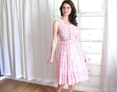 50's Dress / 60's Pink Dress / Sun Dress