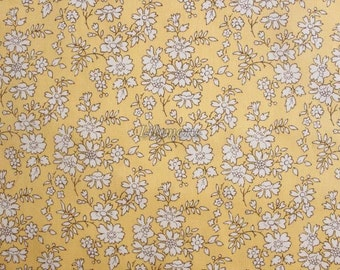Liberty tana lawn printed in Japan - Capel -Yellow
