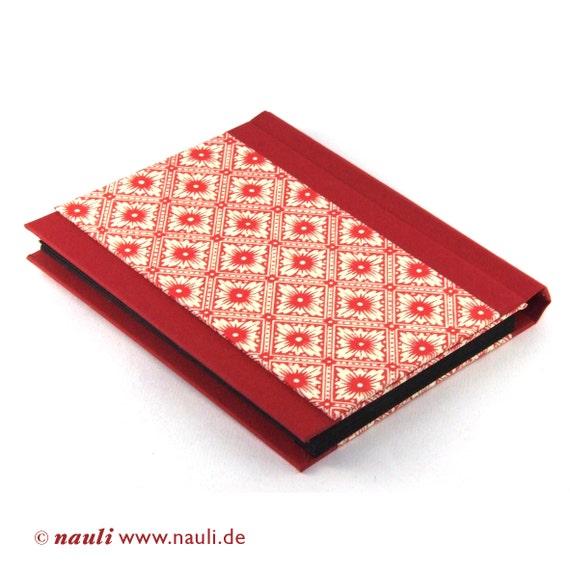 Accordion Folder - Memo Pocket red Java Flowers