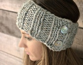 Headband chunky knit ear warmers / THE PARKWAY / Salt Springs