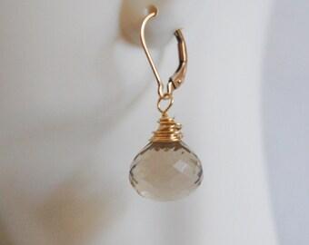 Gemstone Earrings- Gorgeous Lemon  Quartz  Dangle Earrings