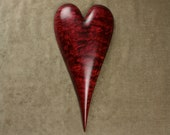 Personalized Wedding Gift Wood Heart Carving, a Christmas Gift on etsy carved by Gary Burns the Treewiz, Handmade Woodworking