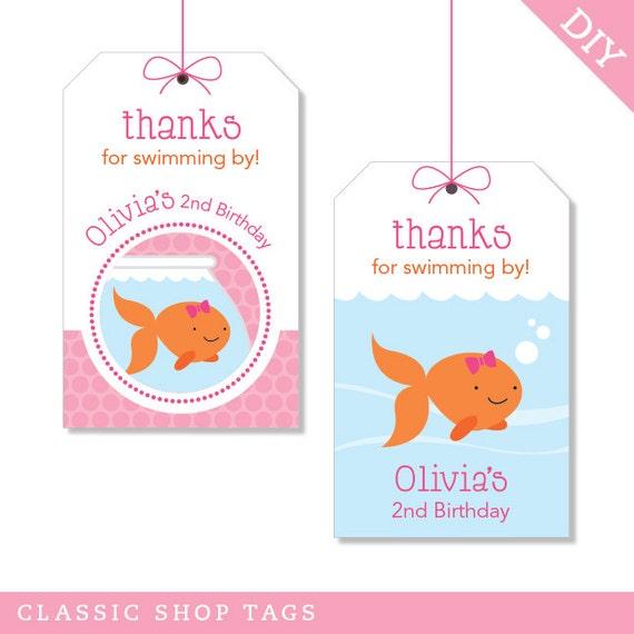 Items Similar To Pink Goldfish Party