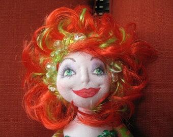 OOAK Soft Sculpture Art Doll - Enya