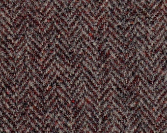 5151  -  Felted 100 Percent  Woven Wool - Herringbone - Tan and Brown-great supply for all crafts,rug hooking, penny rugs, wallets/key rings