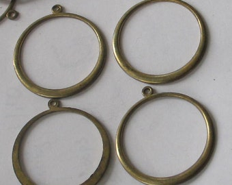SALE Raw Brass Hoop Shape 10p