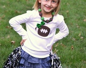 Girls Football Shirt with Bow Choose Your Team Colors