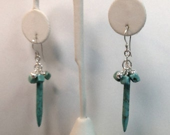 Turquoise Sticks and Stones Dangle Earrings