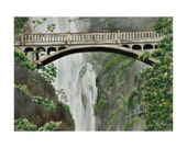 Bridge at Multnomah Falls -  Limited Edition Giclee