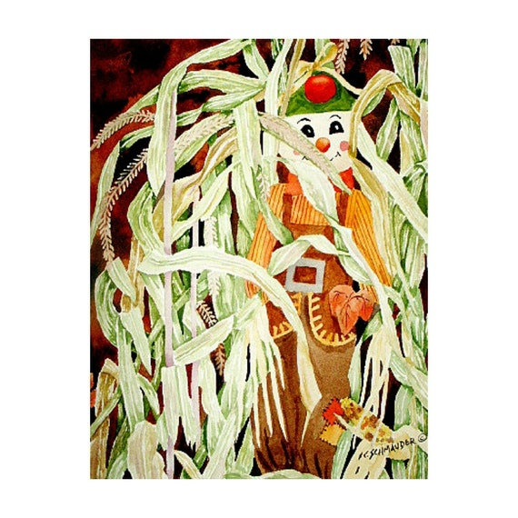 Hiding Out (Scarecrow in Corn Stalks)  - Limited Edition Print