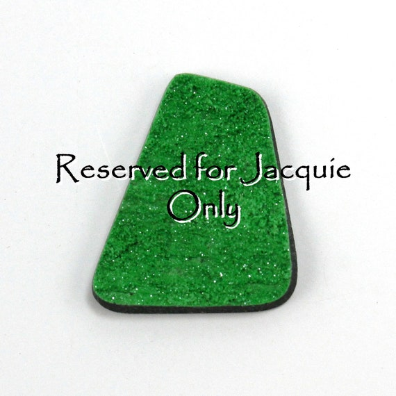 Reserved for Jacquie Only Bright Green Uvarovite Druzy Cabochon