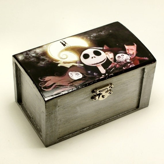... Nightmare Before Christmas Trinket Box Stash Box Jewelry Box on Etsy