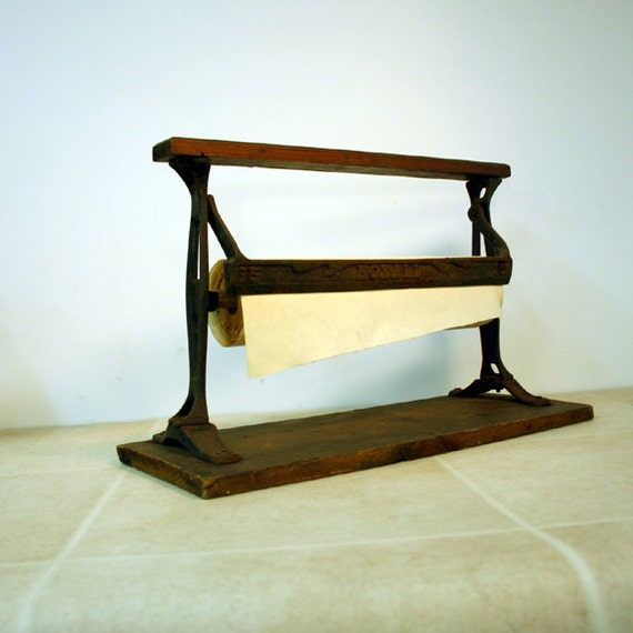 Vintage General Store Paper Roll Cutter / Industrial Paper Cutter