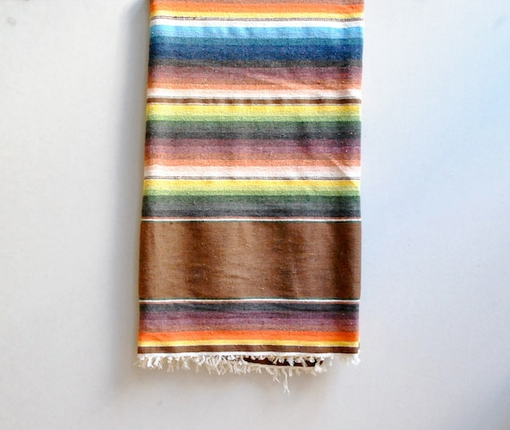 Mexican Saltillo Blanket Vintage