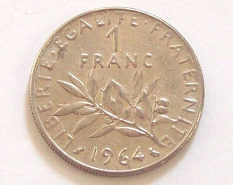 5x French Francs 1960s 1970s