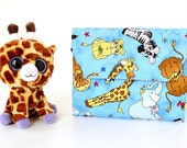 Animals Deluxe Crayon Wallet, Ready to ship, Includes crayons and paper pad, Crayon holder, Travel toy, Toddler toy, Art wallet, Coloring