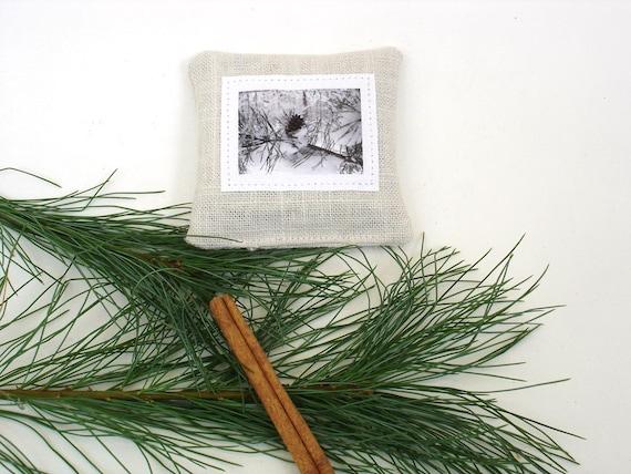 Balsam pine sachet linen winter blend hostess gift under 10 christmas decor