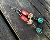 Maasai Dance of Adumu Tribal Gypsy Wire Wrapped Earrings