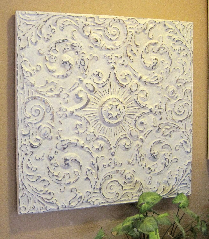 2 X2 Antique Ceiling Tile Circa 1910 Framed