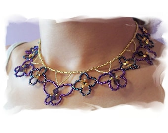 Butterfly Kisses Necklace Pattern, Beading Tutorial in PDF