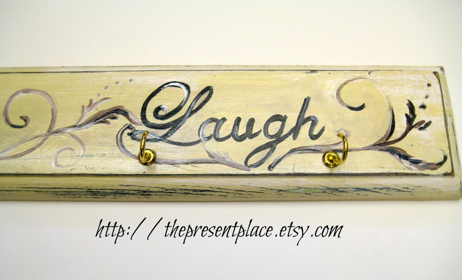 Hand painted distressed cream key holderlive laugh lovekey hand painted distressed cream key holderlive laugh lovekey holderdistressed wood amipublicfo Image collections