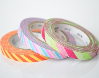mt 2012 Autumn - Japanese Washi Masking Tapes / 6mm Slim Twist Cord B set of 3