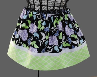 Clearance.....Modern Floral Blossoms Girls Twirl Skirt, Beautiful Colors, Ready to Ship Sizes 5/6, 7/8