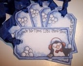 Snow Time Christmas Tags set of 6